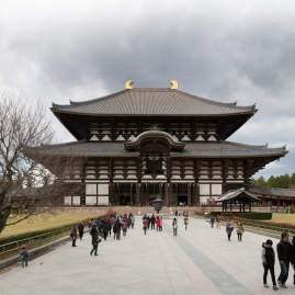 Nara - Todaiji Temple - approach to Great Buddha Hall
