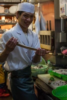 Tsukiji - a happy chef