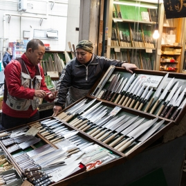 Tsukiji - knife merchant