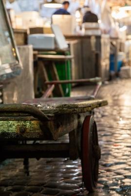 Tsukiji - well used trolley