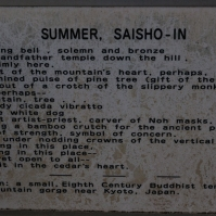 Saisho-in Temple - summer