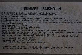Saisho-in Temple - summer