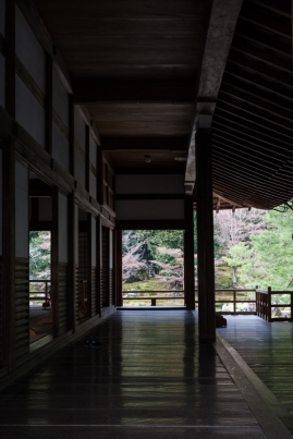 Tenryu-ji Temple - Main Hall exterior - north side