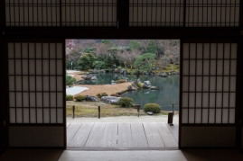 Tenryu-ji Temple - view to Sogen-chi Pond - pic 2