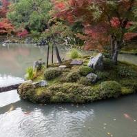 Tenryu-ji Temple - Sogen-chi pond islet