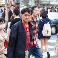 """Shibuya Crossing - """"Shopping is not fun"""" Man"""