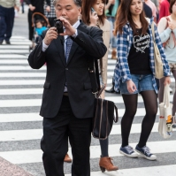 Shibuya Crossing - He's Photographing Me Back