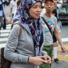 Shibuya Crossing - Woman Wearing Hijab