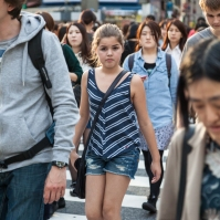 Shibuya Crossing - Young Girl