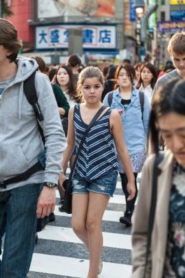 Shibuya Crossing - Young Girl