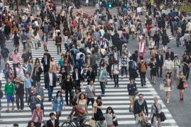 Shibuya Crossing - View from Starbucks