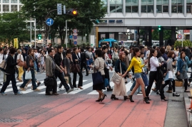 Shibuya Crossing - Wear Yellow for High Visibility