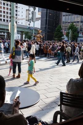 Omikoshi - View from Starbucks