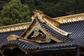 Nikko - Toshogu Shrine - Honden Roof Detail