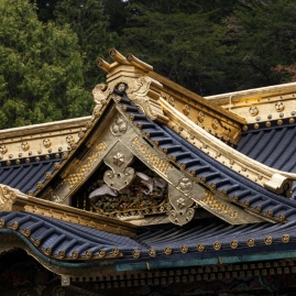 Nikko - Toshogu Shrine - Honden Roof Detail