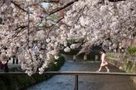 Young girl on bridge