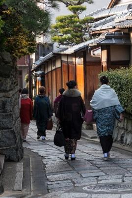 Kimono clad strollers