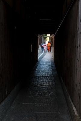 Young women in kimono