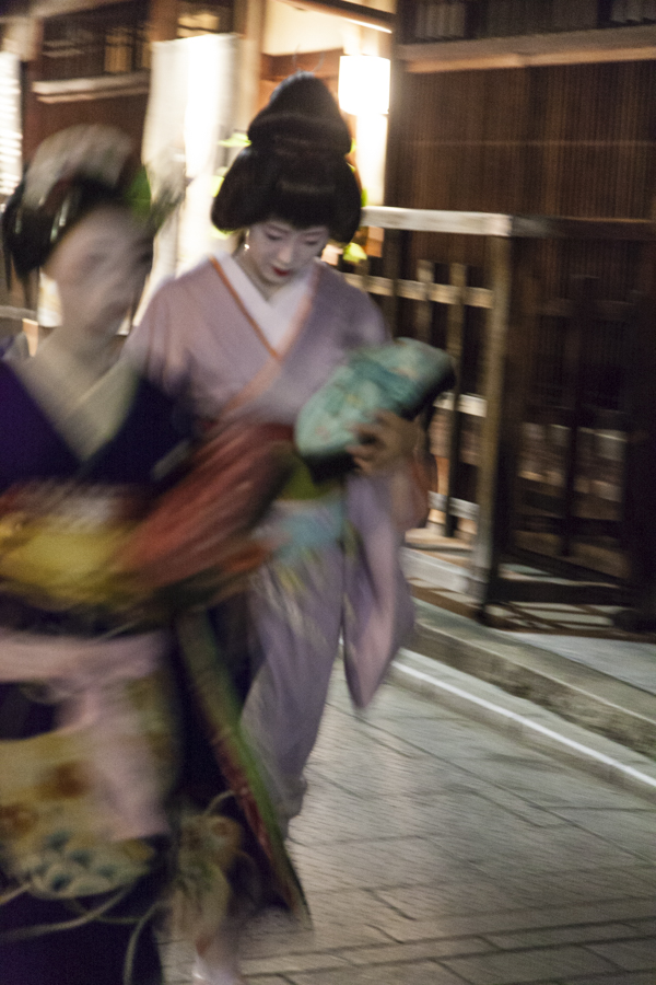 Two Geiko in Kyoto