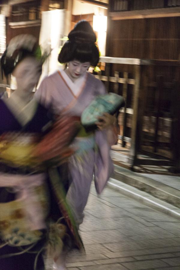 Two Geiko in Kyoto