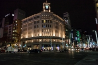 Ginza Crossing - WAKO building at night