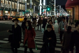 Ginza - workers at end of day