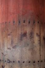 Old door with handmade nails