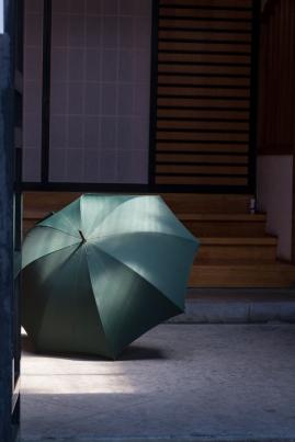 Umbrella left to dry
