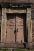 Door to an old warehouse